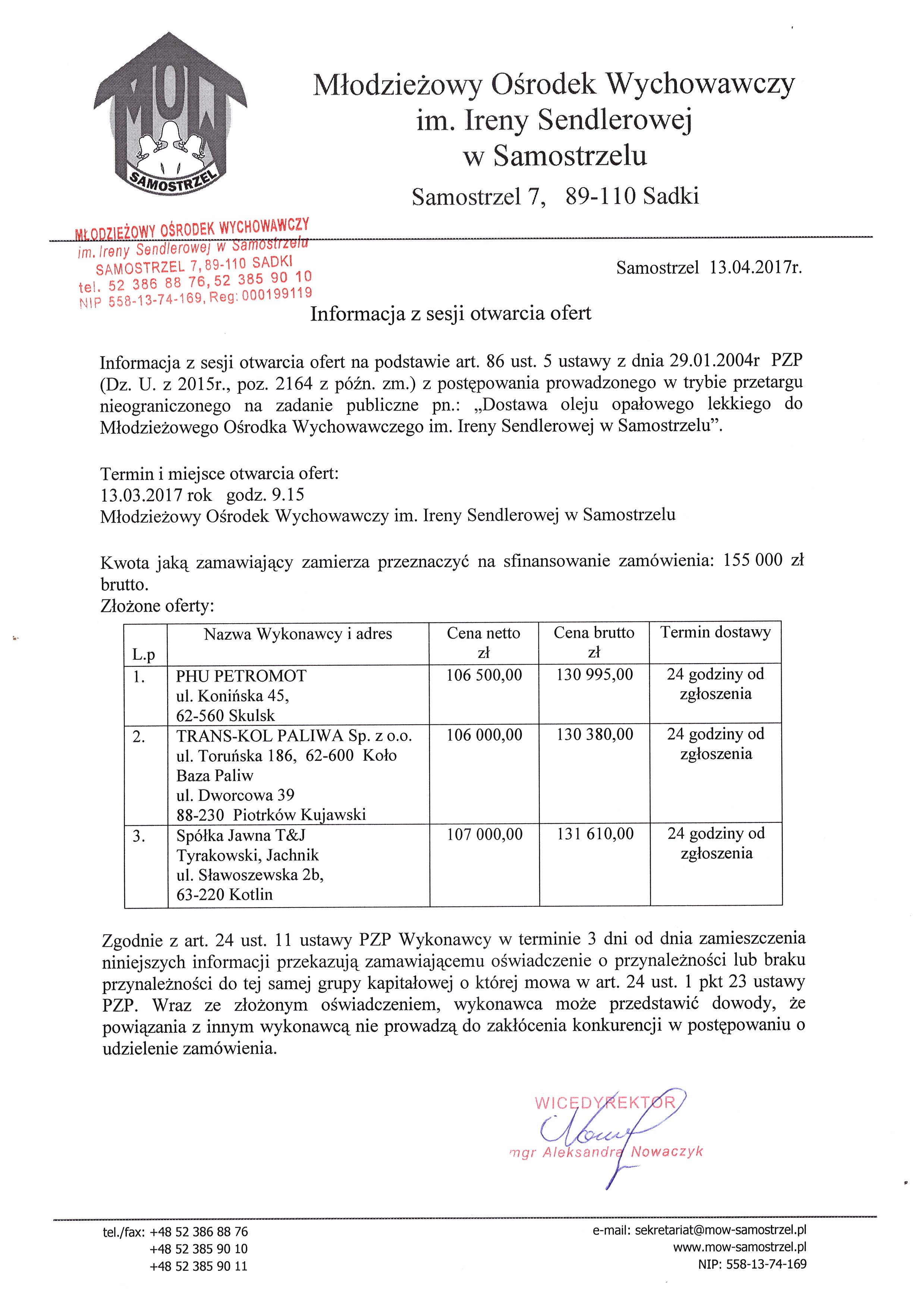 fb7b1ff97a16e8 Przetarg na olej opałowy 2017 – Młodzieżowy Ośrodek Wychowawczy w ...